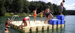 JETfloat Badeinsel 4x4 complete with swim ladder, jump element and anchoring