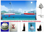 Self-retracting buoy to 20 meters water depth - also extendable, stainless steel