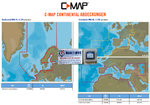 C-MAP 4D MAX / MAX +, EN-D050.39 NORD & CENTRALE EUROPE CONTINENTAL per Raymarine Dragonfly 5Pro