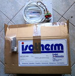 SBF00014AA isotherm O-evaporator 240x210x85mm with couplings, old version, large coupling.