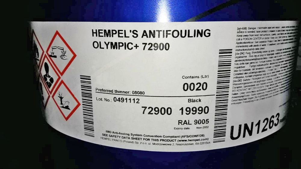 Hempel Olympic Antifouling 72900 Black Red Or Brown 20l Maritimus The Yachtshop All Rights Reserved C 1997 2021