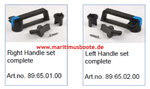 Flushline and to 500x500, Handle set complete 89.65.02.00 or Gebo 89.65.01.00 Handle set complete
