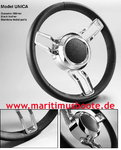 Steering wheel isotta UNICA Stainless steel AISI316 / Leather