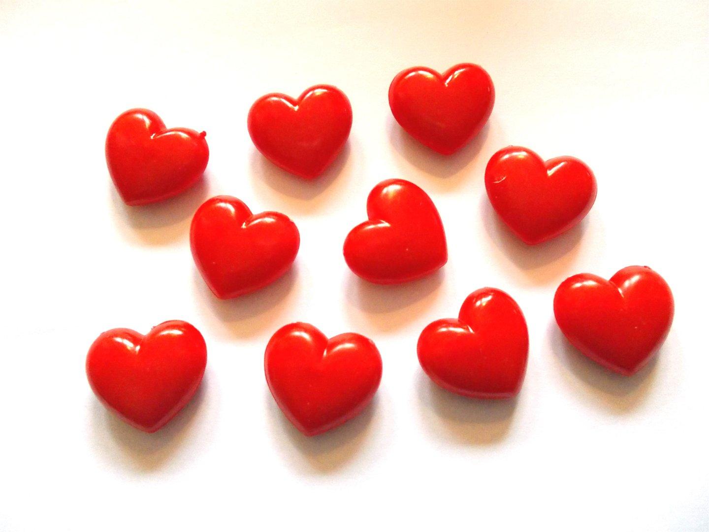 Herz Vollmaterial 10Stk. - Geschenkidee für Verliebte
