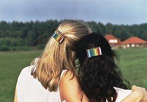 haarspangen im haar, haarschmuck, modeschmuck, bijoux, crazy clips collection, erro design