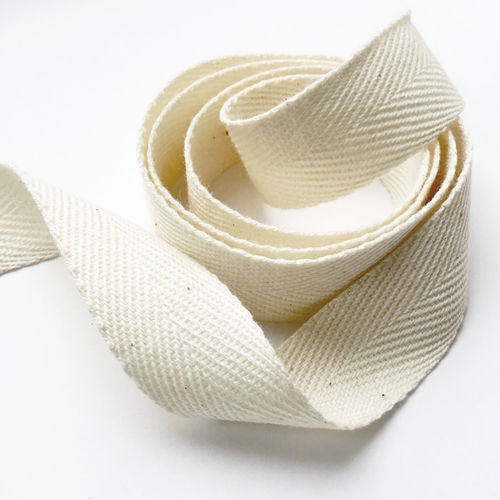 Organic Cotton Ribbon herringbone S