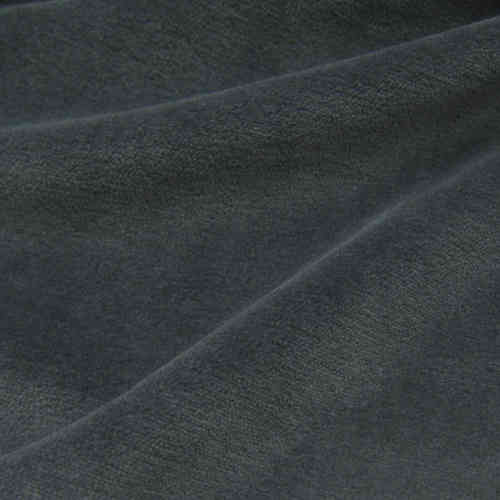 Organic Cotton Velour Fabric Anthracite, GOTS-certified