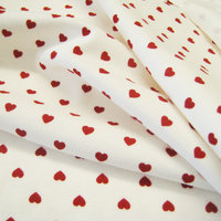 Organic Jersey Hearts White Red, GOTS-certified
