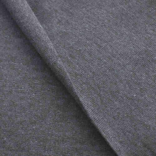 Recycling Jersey Fabric 100% Re-Cotton Grey Blue Mottled