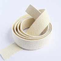 Elastic Rubber Tape Organic 18mm, ecru
