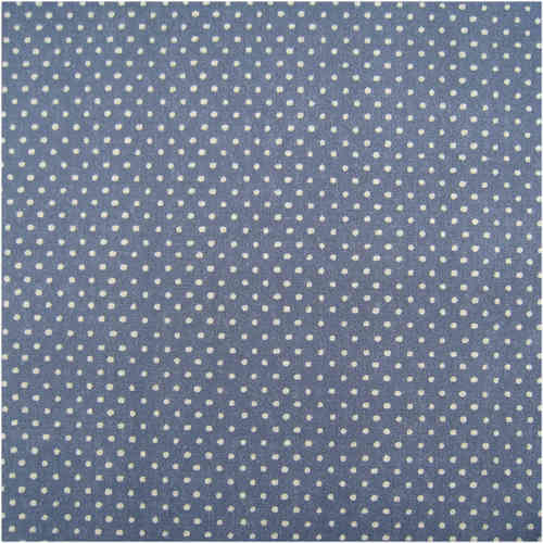 Organic Print Fabric Small Dots Blue Grey, GOTS-certified