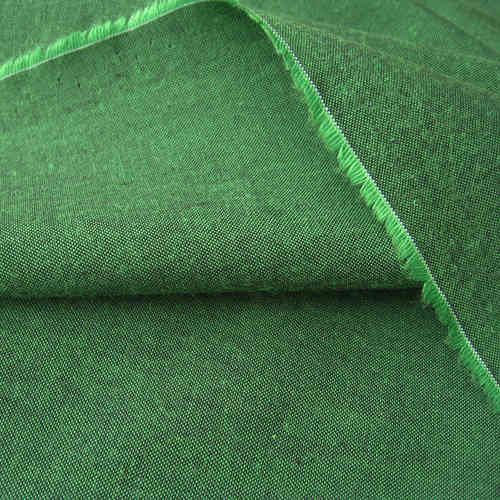 Organic Cotton Chambray black-green, GOTS- certified