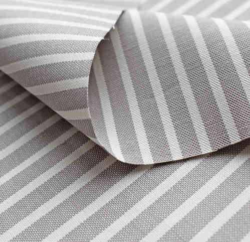 Organic Canvas Stripes taupe-ecru, GOTS-certified