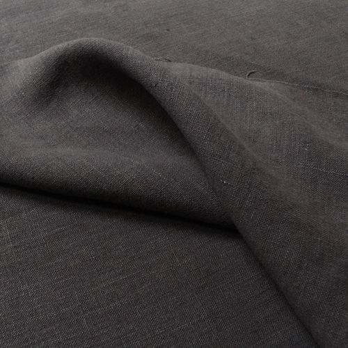 Hemp Fabric Canvas anthracite-grey