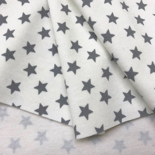 Organic Jersey Stars cremewhite-grey, GOTS-certified