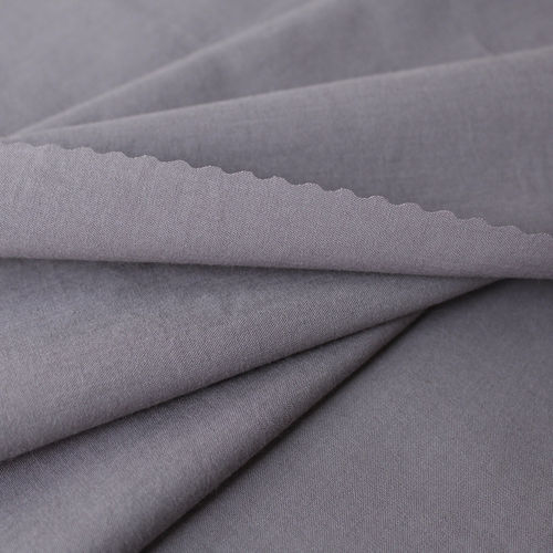 Organic Cotton Batiste Fabric Greyviolet, GOTS-certified