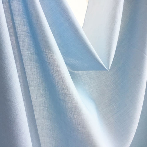 Organic Cotton Voile Fabric sky blue, GOTS-certified