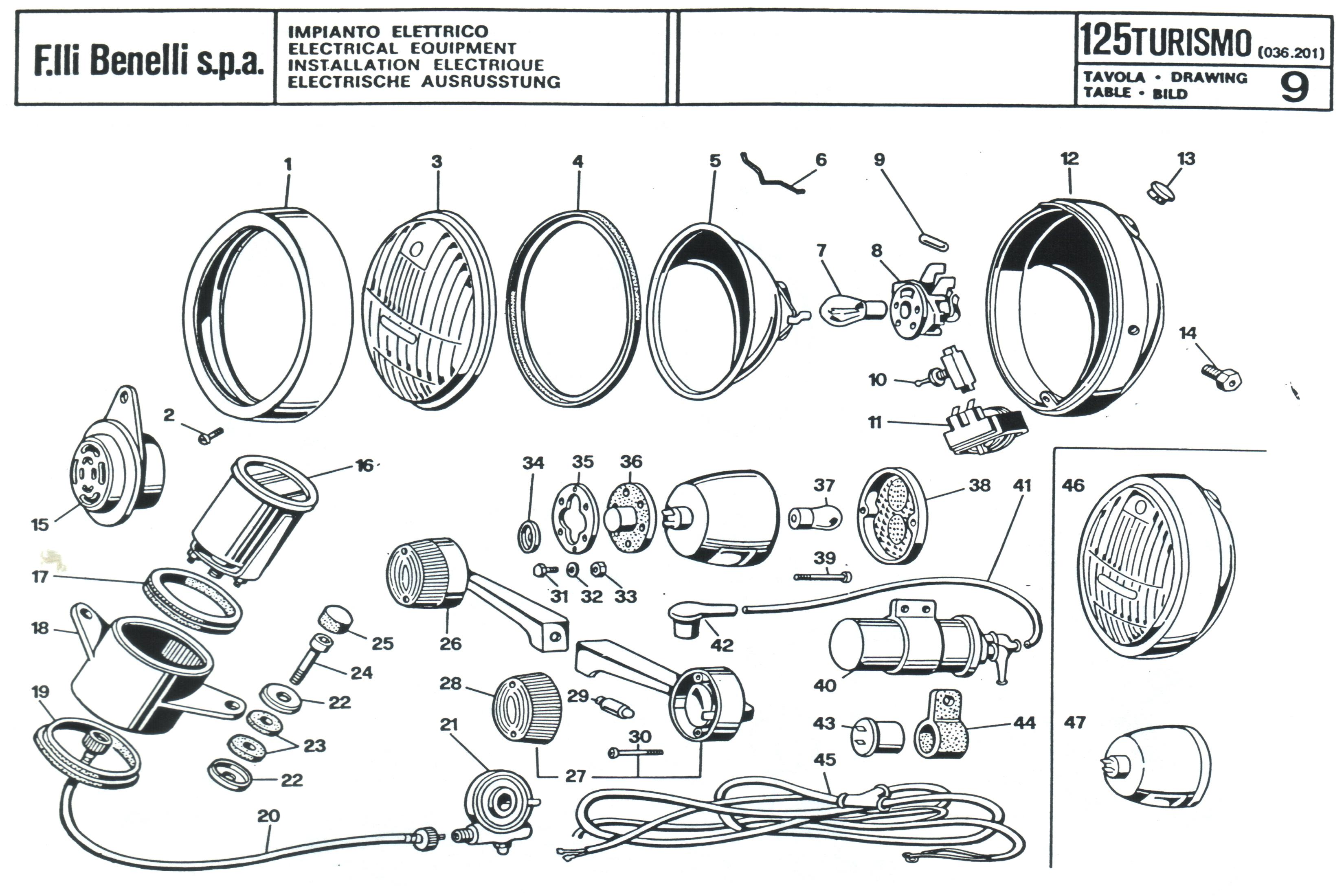 Schema Elettrico X9 250 : Impianto elettrico