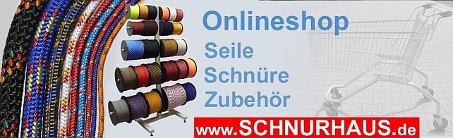 SCHNURHAUS Tauwerk Seile Schnüre in verschiedenen Farben und Längen! Sofort lieferbar.