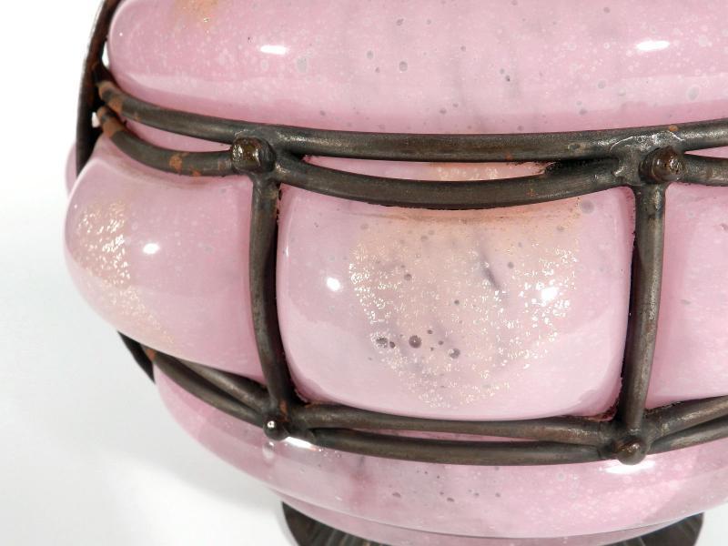 Andre Delatte Nancy Frankreich Art Deco Xxl Eisen Glas Silber
