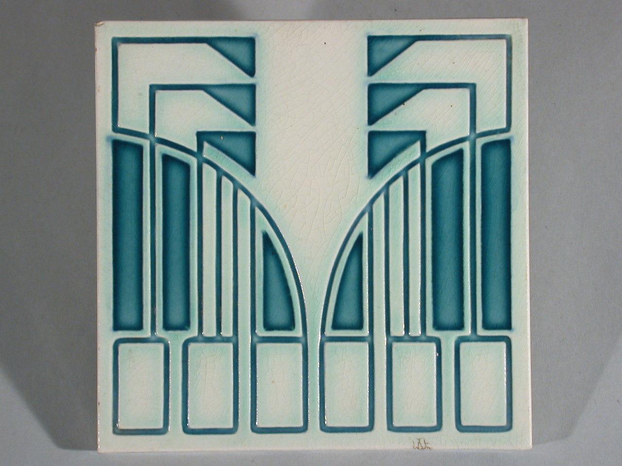 Art nouveau tile mettlach peter behrens - Art deco and art nouveau ...