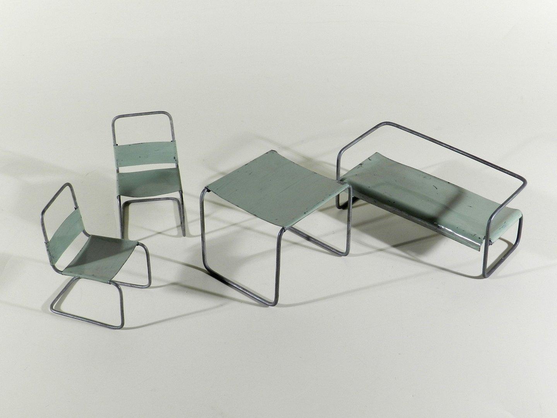 bauhaus miniatur m bel um 1930 marcel breuer tradition. Black Bedroom Furniture Sets. Home Design Ideas