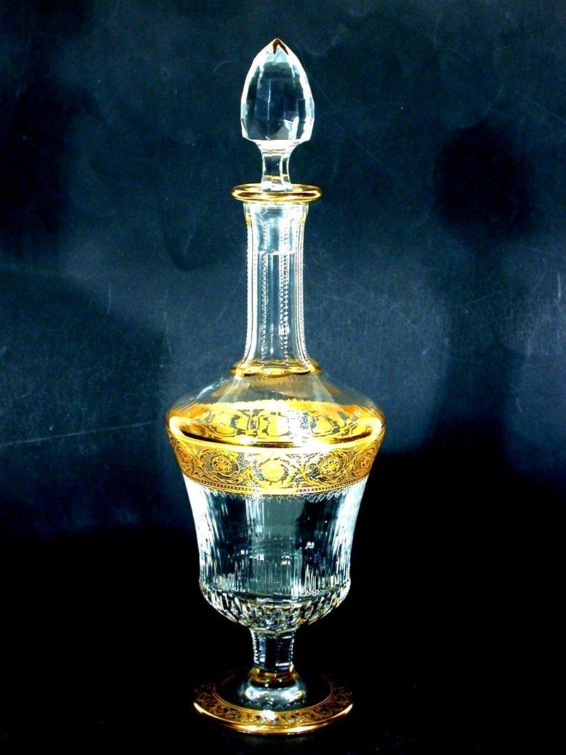 saint louis france glas karaffe thistle. Black Bedroom Furniture Sets. Home Design Ideas