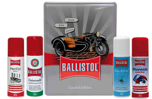 Ballistol limited collectors box /nostalgic box motorcycle theme