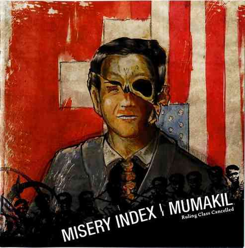 "MISERY INDEX | MUMAKIL Split 7"" colored vinyl"