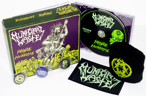MUNICIPAL WASTE 'Massive Aggressive' limited edition CD Box Set