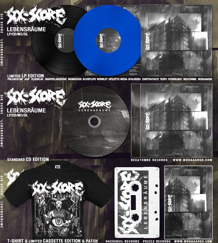 SIX SCORE 'Lebensräume' LP/ CD/ MC & T-Shirt Bundle