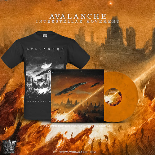 AVALANCHE 'Interstellar Movement' LP + T-Shirt Bundle