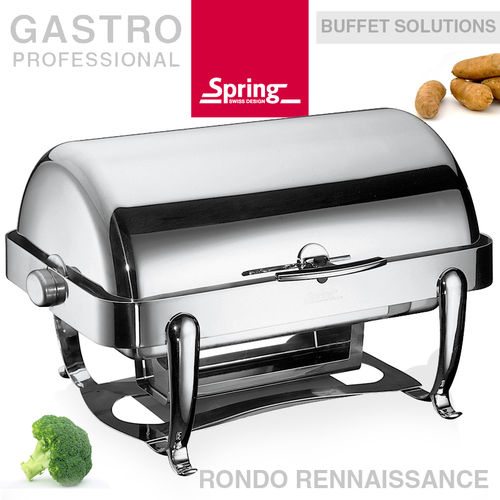 Spring - Chafing dish GN 1/1 with roll-top lid - Rennaissance
