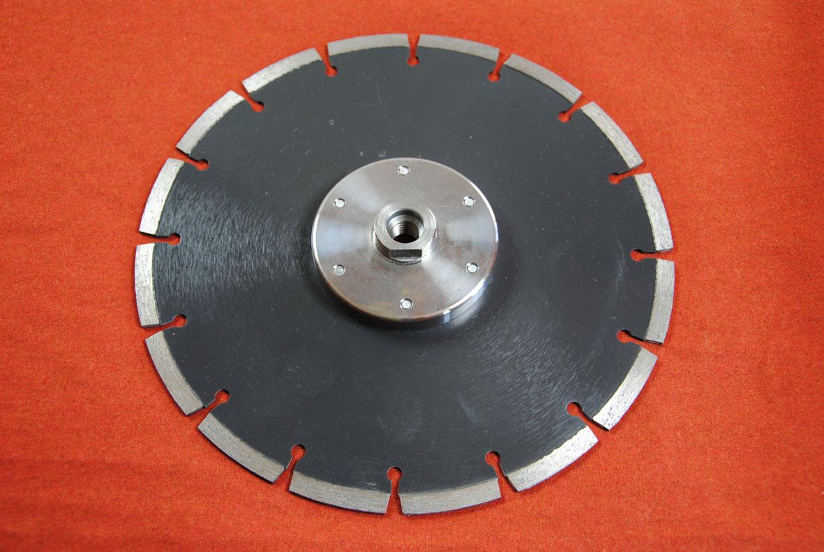 diamant trennscheibe abrasive standard mit montiertem flansch m14 gewinde 230 mm. Black Bedroom Furniture Sets. Home Design Ideas