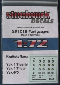 Decal Fuel gauges for Yakovlev fighters