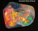 112ct.!! INVESTMENT SUPER- GEM BLACK OPAL RED/GOLD/ORANGE