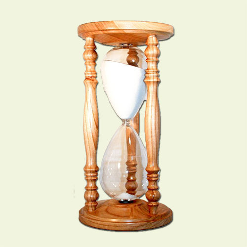 Sand timer Model rustic Cherry