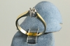 Ring 585/-Gold bicolor mit 1 Brillant ca.0,25ct Top Wesselton,very small inclusions
