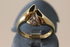 Ring 585/-Gold bicolor mit 2 Diamanten ca.0,03ct teilrhodiniert
