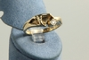 Ring 585/-Gold massiv mit 1 Brillant ca.0,07ct. Wesselton,small inclusions