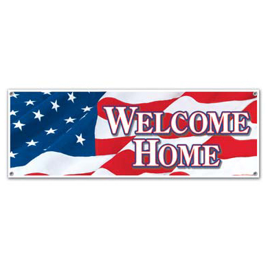 Jumbo Sign Banner - WELCOME HOME, ca. 152 x 53 cm