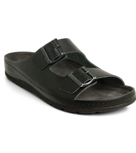 Batz ZENO buckle slippers black