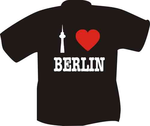T-Shirt I love Berlin schwarz