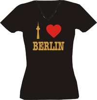 T-Shirt I love Berlin Lady Gold