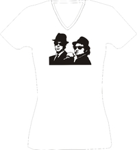 T-Shirt Lady V-Neck  Blues Brothers