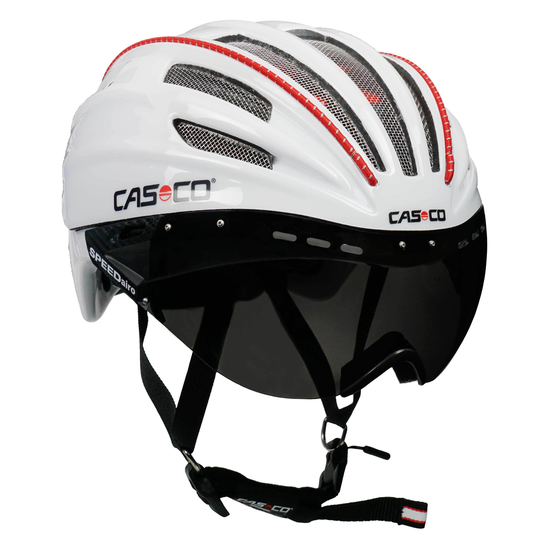 rennradhelm fahrradhelm casco speedairo mit visier inkl. Black Bedroom Furniture Sets. Home Design Ideas