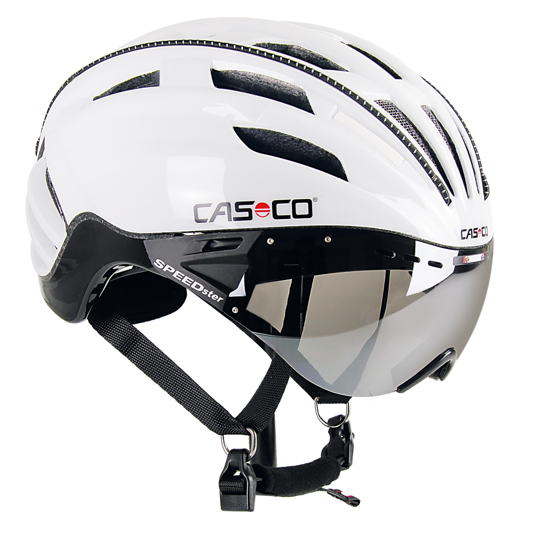 rennradhelm fahrradhelm casco speedster mit visier in. Black Bedroom Furniture Sets. Home Design Ideas