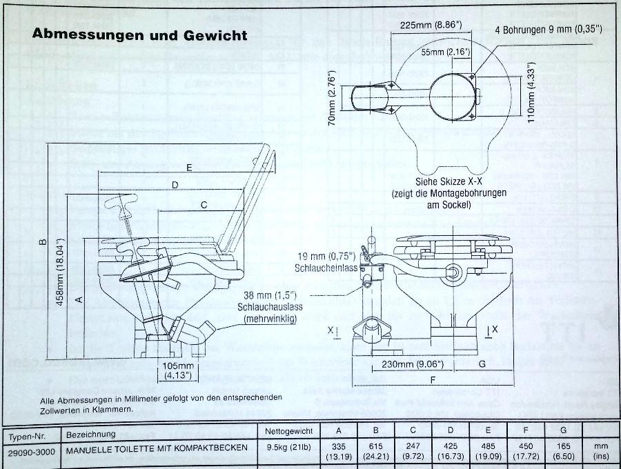 Jabsco yacht toilette twist n lock 29090 3000 ebay for Fenster xylon