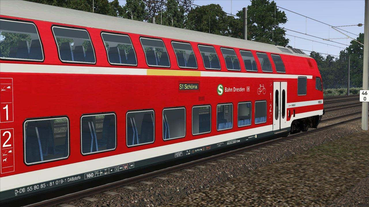 Doppelstockwagen Re160 S Bahn Dresden